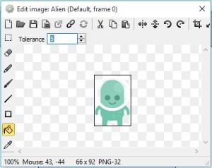 Alien object in game with Construct 2